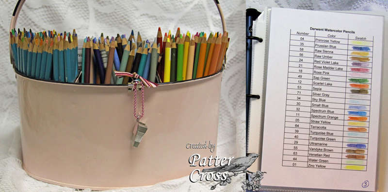 Colored Pencil Storage & Swatch File