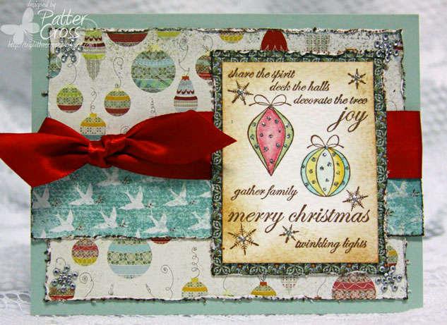 Colorful Ornaments {Memory Box}