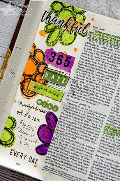Glory {Art} Scripture Challenge #18, Thankful