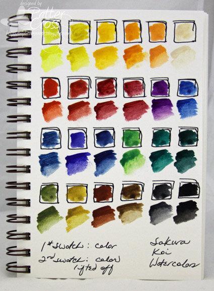 Sakura Koi Watercolor Swatches