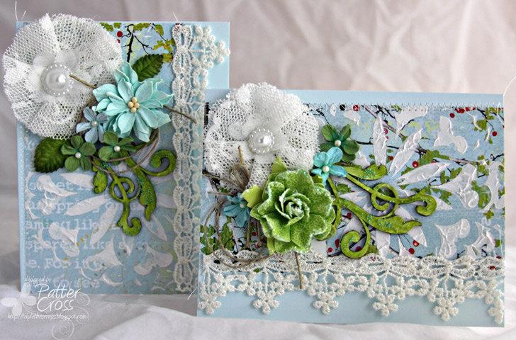 Lace Card Pair {Blue Fern Studios}