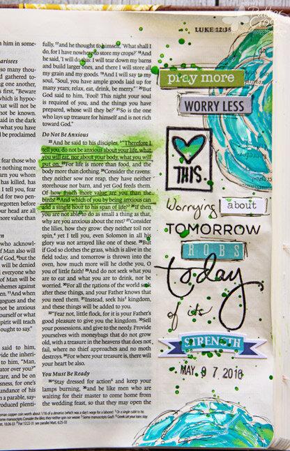 Glory {Art 2016} Scripture Challenge #5, Worry