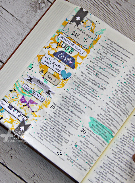 Journaling {Bible} Psalm 19:14 and a Deli Paper Tutorial