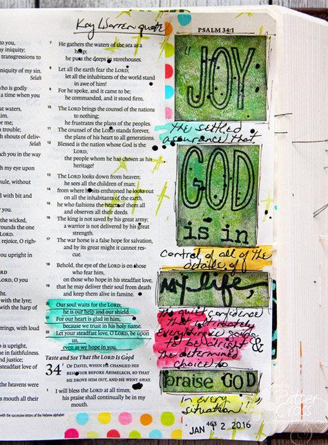 Glory {Art 2016} Scripture Challenge #2, Happiness or Joy?