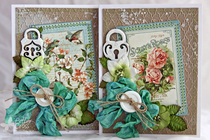 Cards: A Rose Pair {Blue Fern Studios}