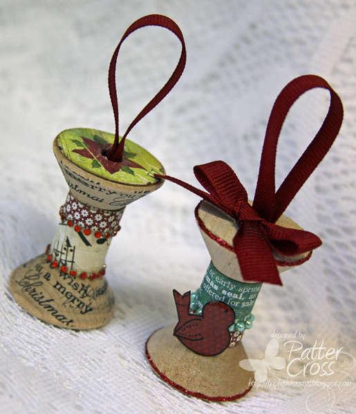 {Spool} Christmas Ornaments