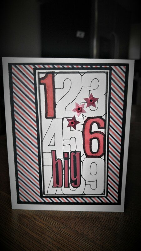 Big 16 Birthday Card
