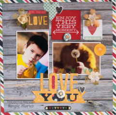 Love You **Simple Stories NEW Homespun**