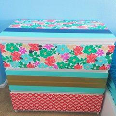 Dresser with Hazel and Ruby DIY washi
