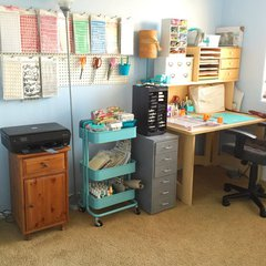 My studio - peg board and desk