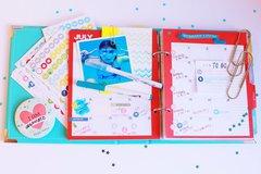 Simple Stories Planner - July