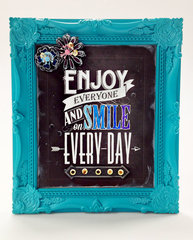 Enjoy Everyone Frame - Chalkboard