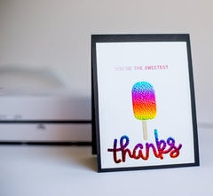 Therm O Web Foils - thank you cards