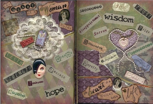 ~IN THE HEART OF A WOMAN~ Collage Book