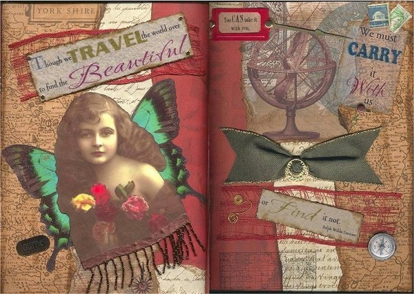 ~IN THE HEART OF A WOMAN~ Collage Book Pages 5&6
