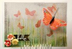 Hello Butterfly Acrylic Card
