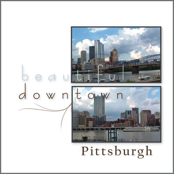beautiful downtown Pittsburgh