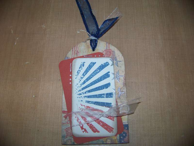 Patriotic Wood Tag Magnet