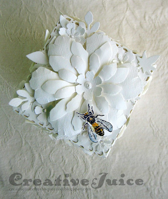 Monochromatic Flower Artist Trading Block