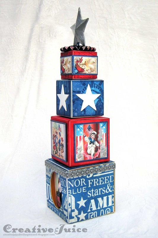 Patriotic Artist Trading Block Tower