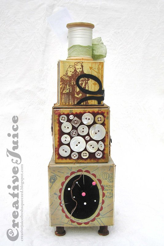 Sewing Artist Trading Block Tower
