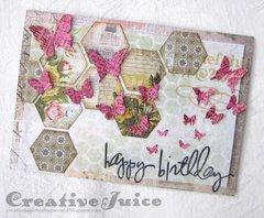 Butterfly Frenzy Birthday Card
