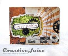 Steampunk Birthday Card