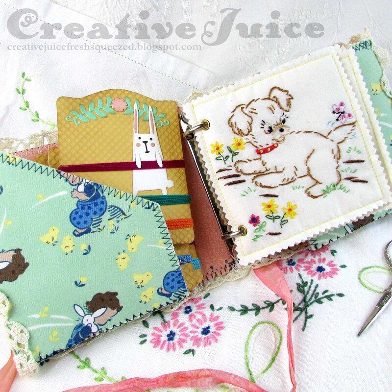 Folio Journal Embroidered Stitchery Kit