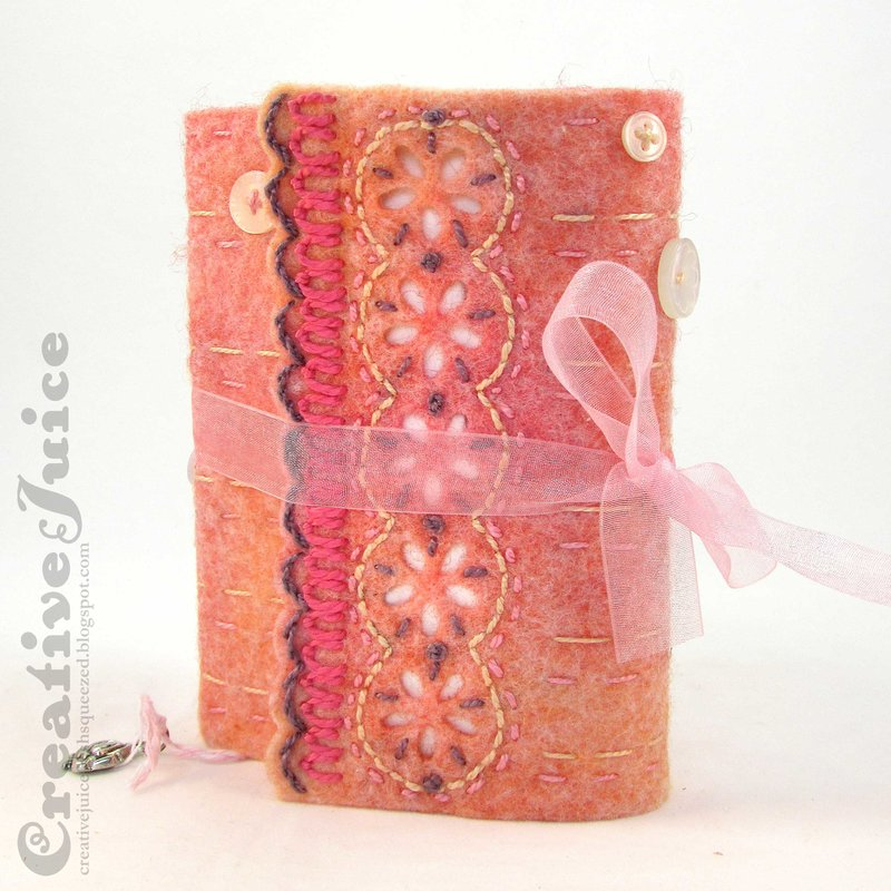 Felt Wrapped Journal