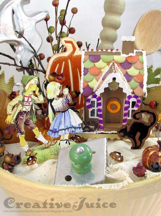 Hansel & Gretal Halloween Vintage Mixing Bowl decor