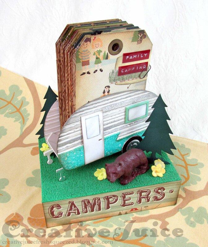 3-D Camper with Tag Album