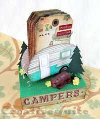 3-D Camper with Tag Album