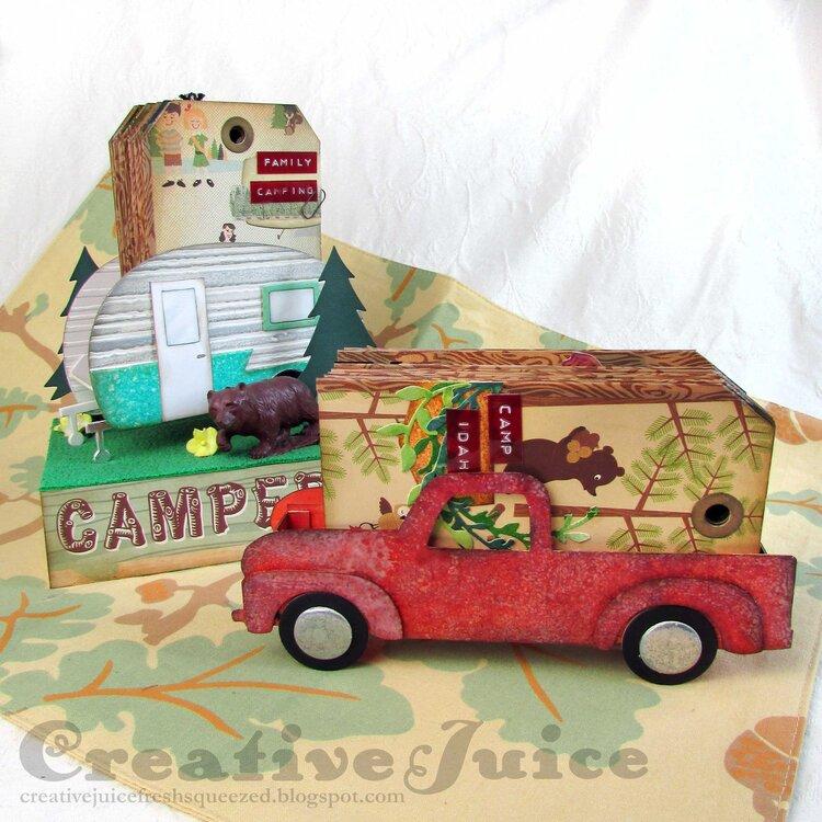Vintage Truck Box Camping Tag Album