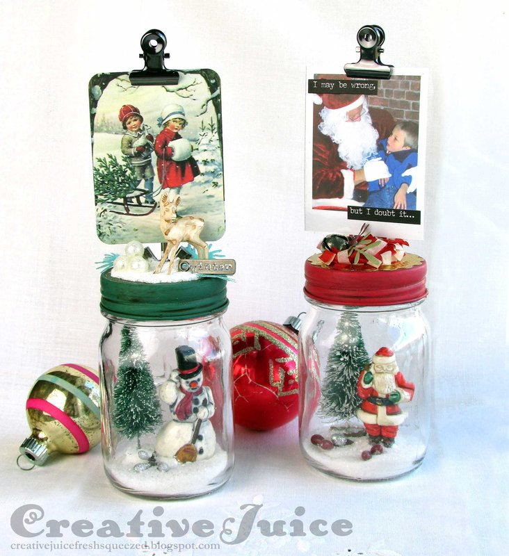 Tim Holtz Christmas Mini Mason Jars