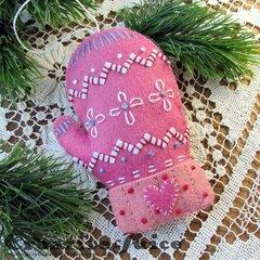 Felt Mitten Ornament