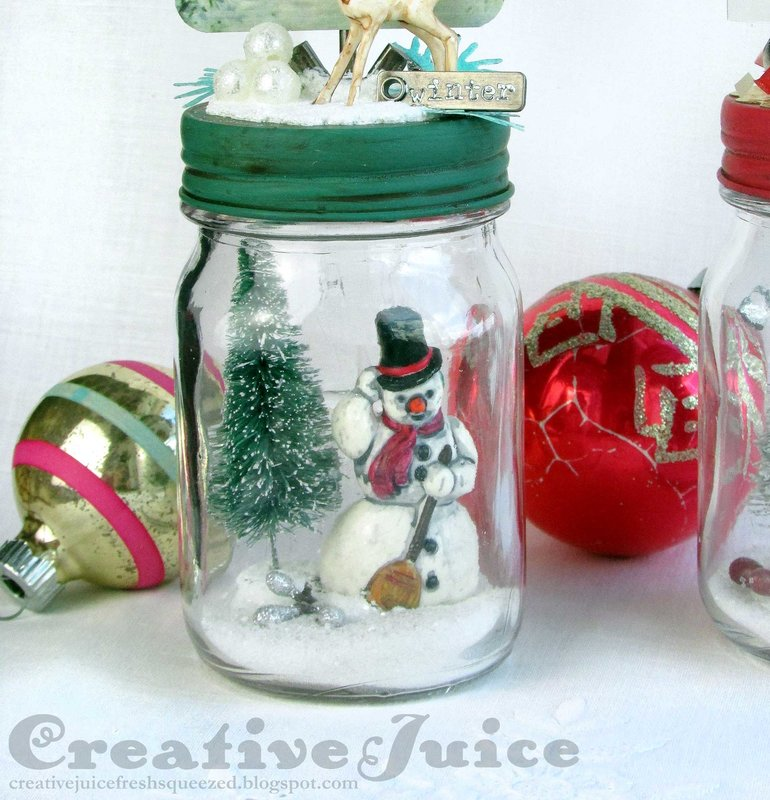Tim Holtz Christmas Mini Mason Jars