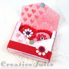 Tiny Book Case Valentine & Gift Card Holder