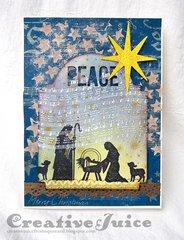 Manger Christmas Card