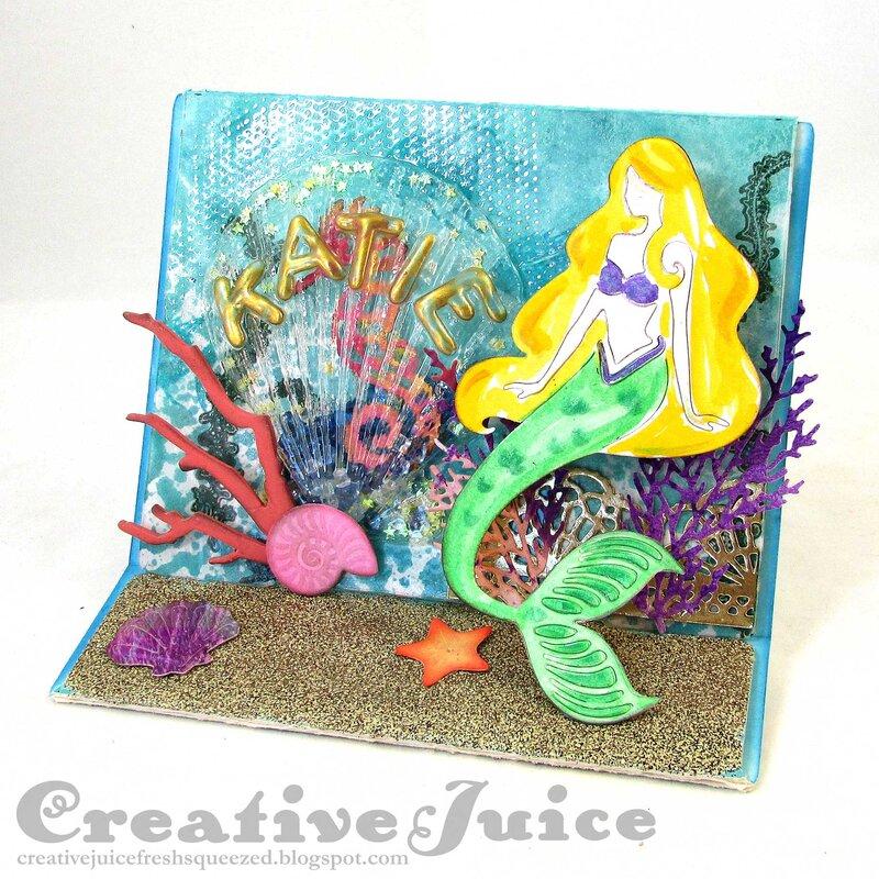 Mermaid Garden Shaker Card/Display Stand