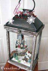 Christmastime in the Village Lantern