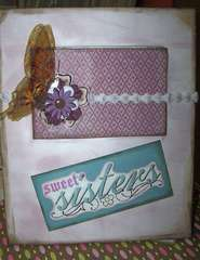 Altered Bazzill Frame with Photo Album insert.