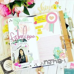 Fabulous Inspiration from @my.happyplace featuring her Color Crush Travelers Notebook from Webster's Pages