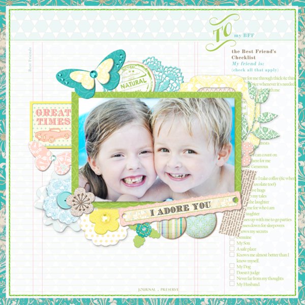 I Adore You by Adrienne Looman featuring Best Friends from Webster's Pages