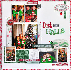 Deck the Halls by Designer Jill Cornell featuring It's Christmas by Allison Kreft for Webster's Pages