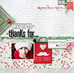 Thanks for...by Designer Stacey Michaud featuring It's Christmas from Webster's Pages