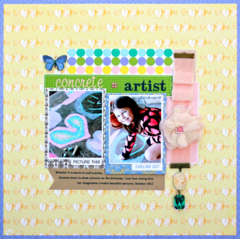 Concrete Artist b Diana Brodeur featuring the new Best Friends Collection from Webster's Pages