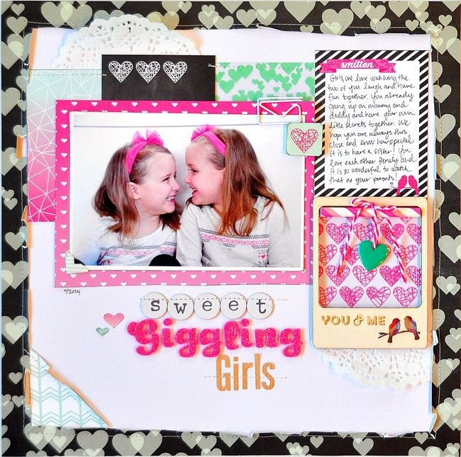 Sweet Giggling Girls by Jill Cornell featuring Webster's Pages Sprinkled With Love