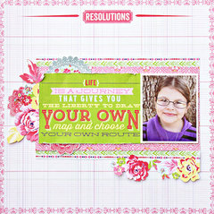 Resolutions by designer Diana Brodeur featuring New Year New You Collection from Webster's Pages