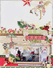 Santa Claus (arrived in style) *Webster's Pages Royal Christmas*