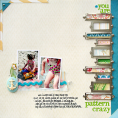 You Are Pattern Crazy by Stacey Michaud featuring Palm Beach from Websters Pages